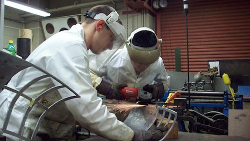 Students work in Columbia's Plasma Physics Laboratory