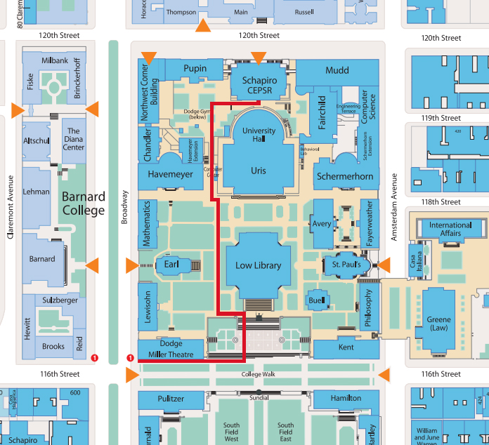 Directions to CEPSR   Davis Auditorium and 750 (Costa Engineering